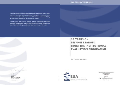 10 Years On: Lessons Learned from the Institutional Evaluation ...