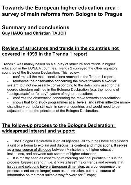 Trends II - European University Association
