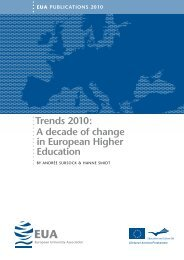 Trends 2010: A decade of change in European Higher Education