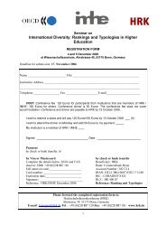 International Diversity: Rankings and Typologies in Higher Education
