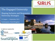 The Engaged University - European University Association