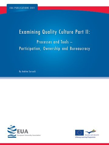 Examining Quality Culture Part II: - European University Association
