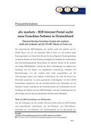 abc markets – B2B Internet Portal sucht neue Franchise-Nehmer in ...