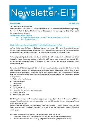 EIT Newsletter 2011 April