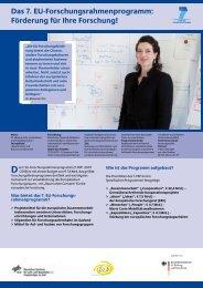 Chance EU-Forschung - EU-Büro des BMBF