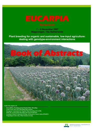 Plant breeding for organic and sustainable, low-input agriculture