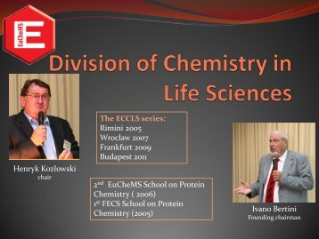 Division of Chemistry in Life Sciences - EuCheMS