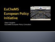 Priority EU Policy Issues for EuCheMS