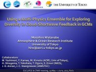 Using a multi-physics ensemble for exploring diversity in ... - euclipse