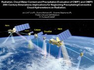 Radiation, Cloud Water Content and Precipitation ... - euclipse
