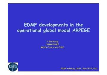 EDMF developments in the operational global model ... - euclipse