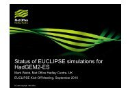 Status and overview of EUCLIPSE simulations for HadGEM