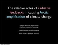 Climate model response to radiative cloud- and water ... - euclipse