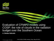 Evaluation of CFMIP2 models using COSP: the role of ... - euclipse