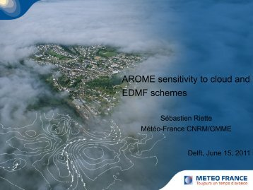 Sensitivity test in AROME using different cloud schemes - euclipse