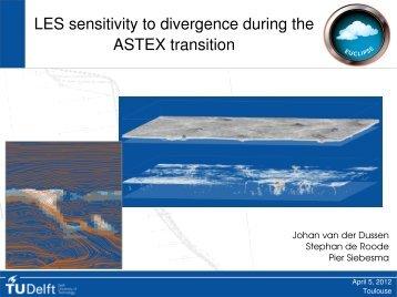 LES sensitivity experiments of the EUCLIPSE stratocumulus to ...