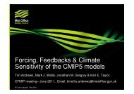 Forcing, Feedbacks & Climate Sensitivity of the CMIP5 ... - euclipse