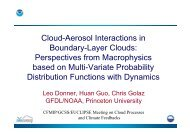 Cloud-Aerosol Interactions in Boundary-Layer Clouds ... - euclipse