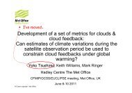 Can estimates of climate variations during the satellite ... - euclipse