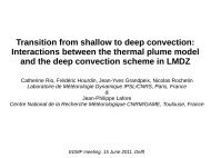 Transition from shallow to deep convection: Interactions ... - euclipse