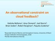 An observational constraint on the cloud feedback - euclipse