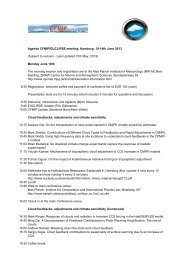 Agenda CFMIP/EUCLIPSE meeting, Hamburg, 10-14th June 2013 ...