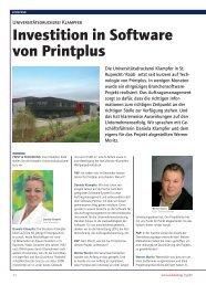 Investition in Software von Printplus
