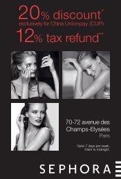 20% discount* 12% tax refund**