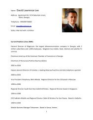 David Lee's complete biography is attached. - EUGBC