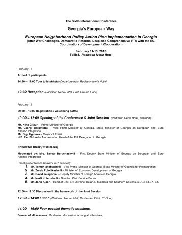 ENP Conference Program - EUGBC