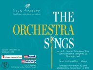 The Orchestra Sings - Eugene Symphony