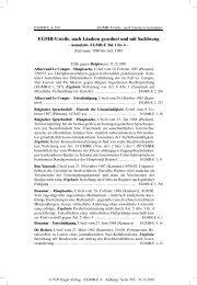 Urteilsliste alphabetisch nach Ländern mit Sachbezug