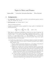 Topics in Macro and Finance (Ph.D.), 2007/2008