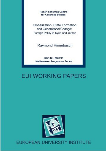 EUI WORKING PAPERS - European University Institute