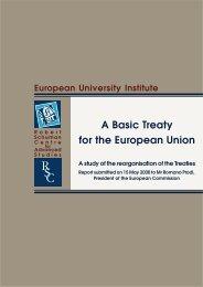 Final report - European University Institute