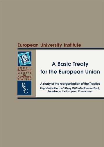 Final report - European University Institute