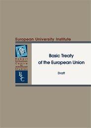 draft for a Basic Treaty - European University Institute