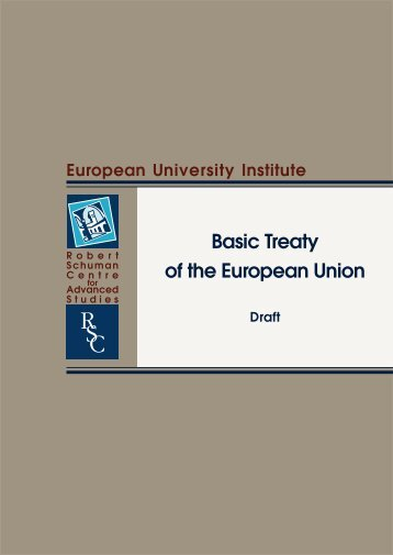 draft for a Basic Treaty - European University Institute