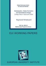 EUI WORKING PAPERS - European University Institute