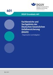 Fachbereiche und Sachgebiete der Deutschen Gesetzlichen ...