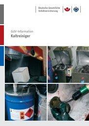 Kaltreiniger - Eisenbahn-Unfallkasse