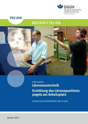 Lärmmesstechnik-Ermittlung des Lärmexpositionspegels am ...