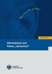 Informationen zum Thema Lärmschutz - Eisenbahn-Unfallkasse