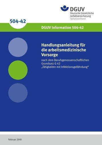 DGUV Information 504-42