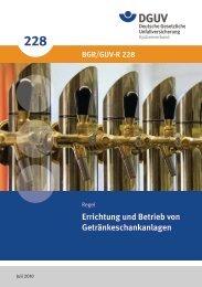 Errichtung und Betrieb von Getränkeschankanlagen