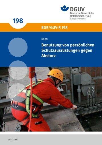 Benutzung von persönlichen Schutzausrüstungen gegen ... - DGUV