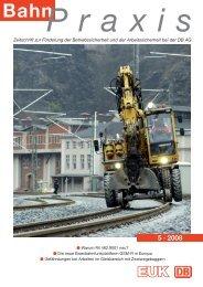 Praxis Bahn - Eisenbahn-Unfallkasse