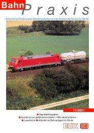 BahnPraxis 11/2001 PM 6.5 - Eisenbahn-Unfallkasse