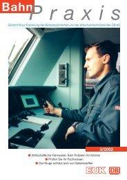 BahnPraxis Heft 1/2002 - EUK - Eisenbahn-Unfallkasse