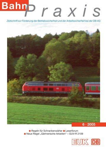BahnPraxis Heft 1/2002 - Eisenbahn-Unfallkasse